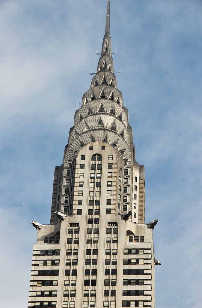 Chrysler building new york skyscraper, places monuments.