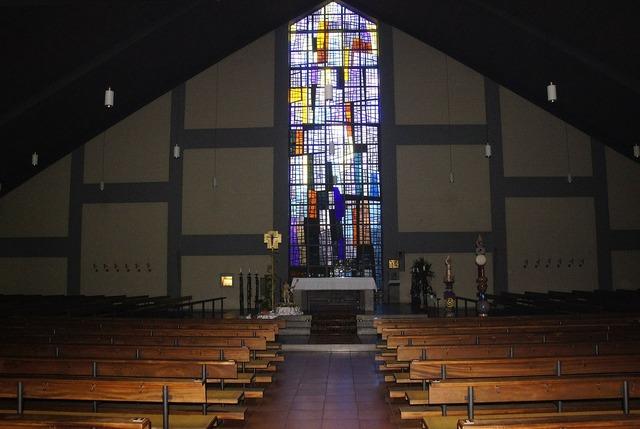 Church altar architecture, religion.
