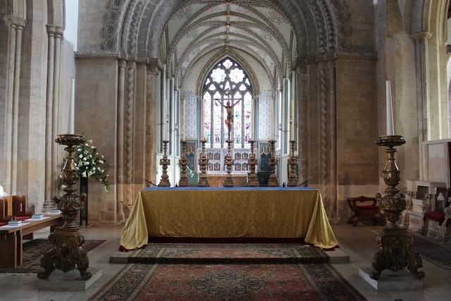 Church altar cross, religion.