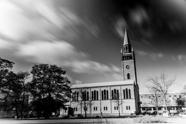 Church black white, religion.