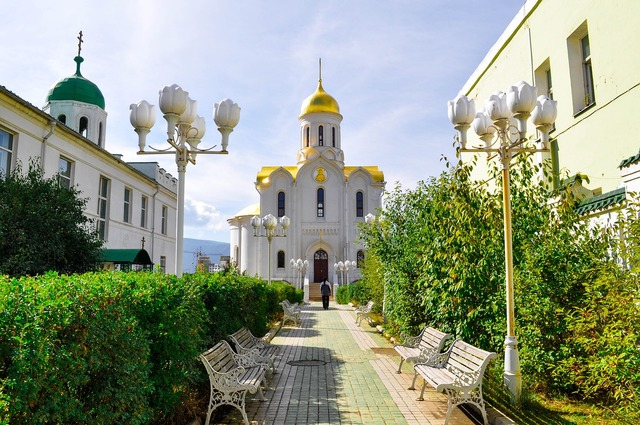 Church building orthodox, religion.