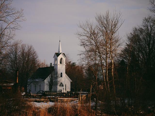 Church building steeple, religion.