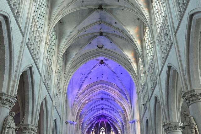 Church building vaults, religion.