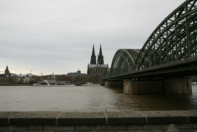 Church cologne cathedral bridge, religion.
