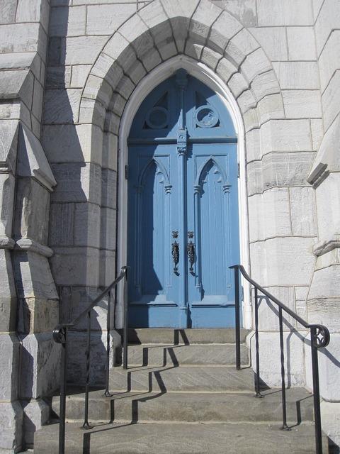 Church door architecture, religion.