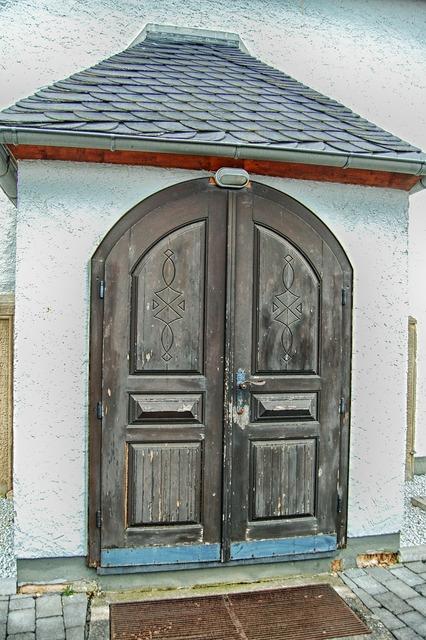 Church door building, religion.