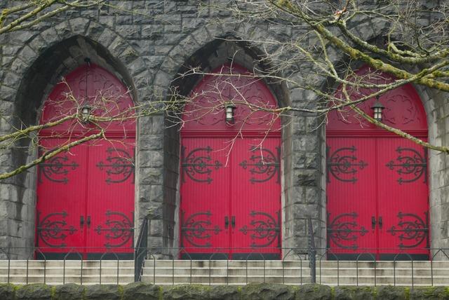 Church door religion, religion.