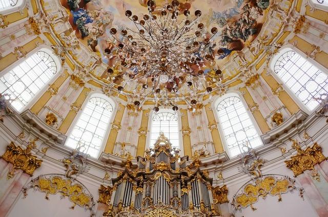 Church ettal lampshade, religion.