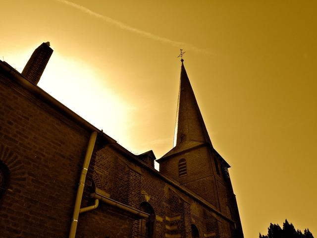 Church evening mood, religion.
