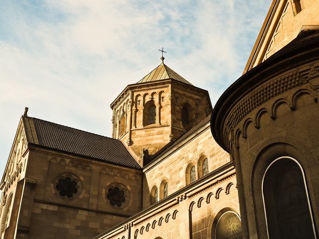 Church facade architecture, religion.