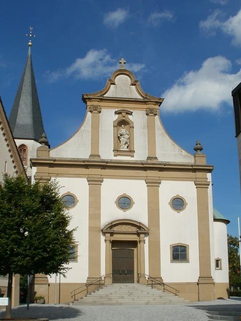 Church front st juliana, religion.
