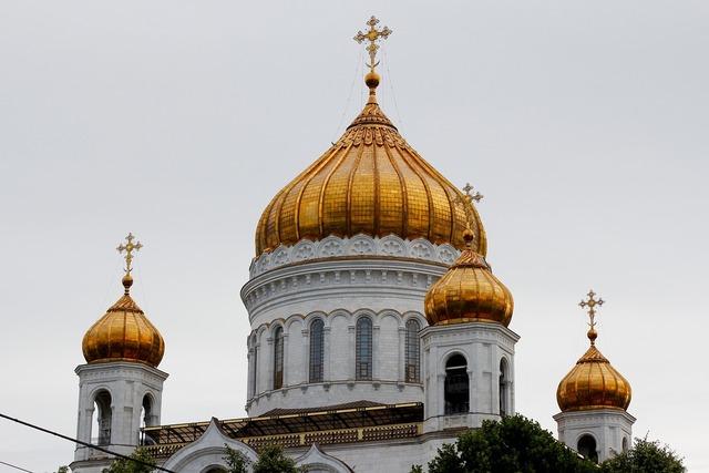 Church golden dome, religion.