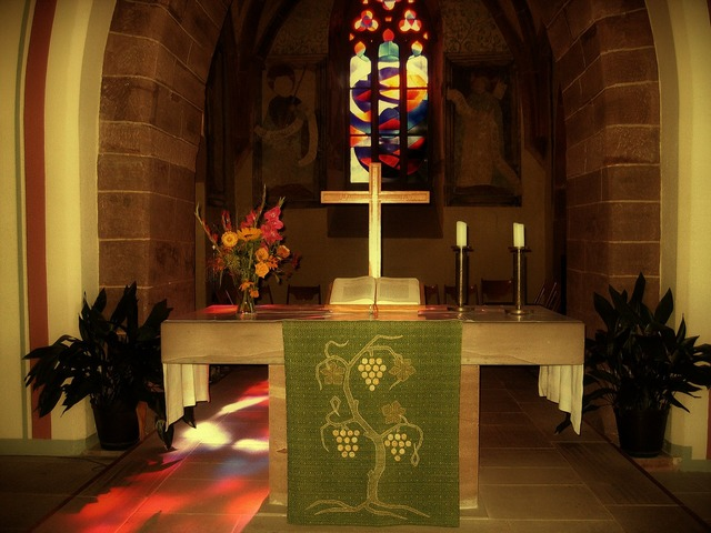 Church gootehaus altar, religion.