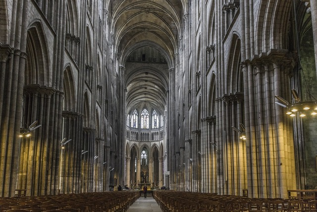 Church gothic normandy, religion.