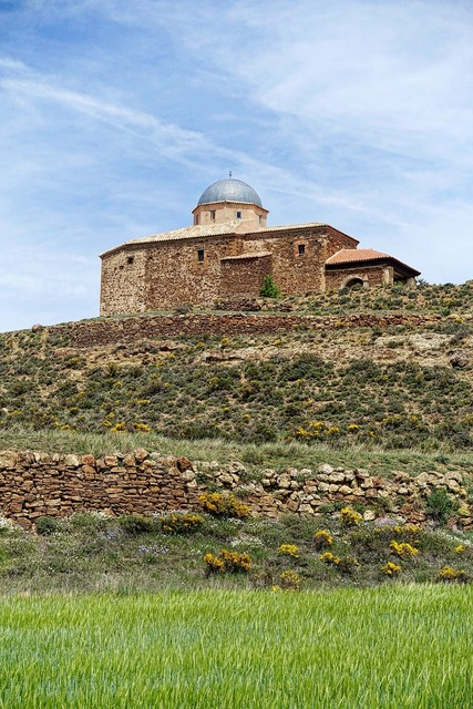 Church hilltop fortification, religion.