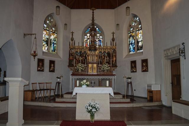 Church nave architecture, religion.