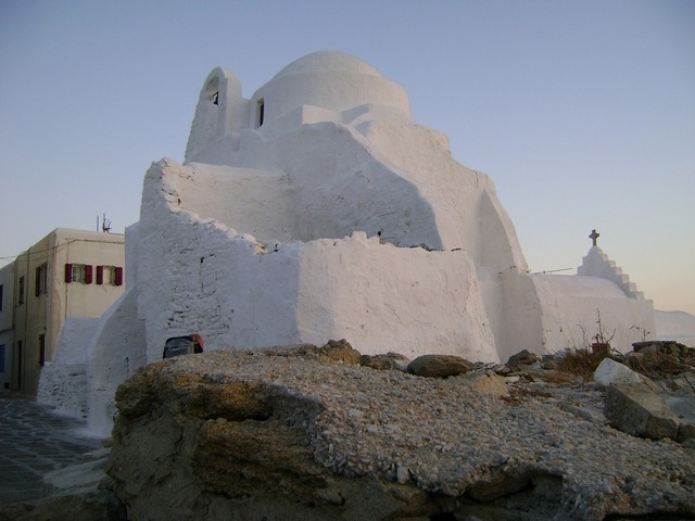 Church of panagia paraportiani mykonos greece, places monuments.