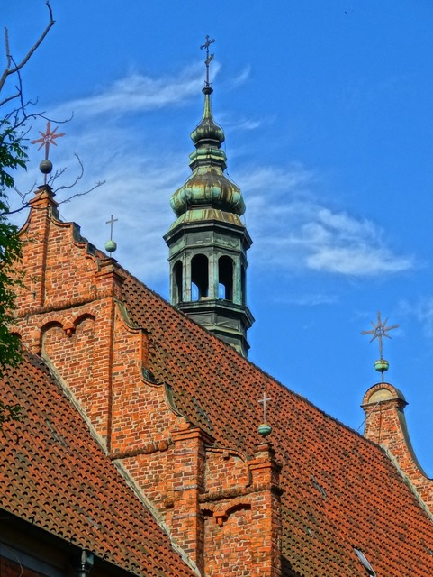 Church of the assumption bydgoszcz poland, architecture buildings.