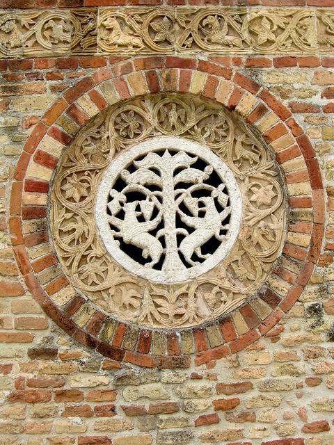 Church ornament wall, religion.