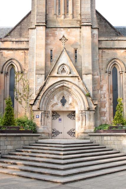 Church port staircase, religion.