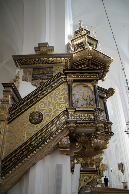 Church pulpit perspective, religion.
