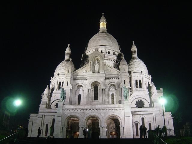 Church sacre coeur architecutre, religion.