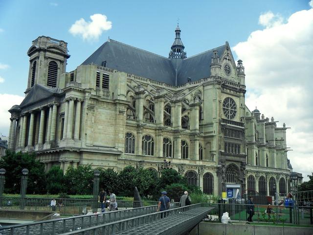 Church saint eustache france, religion.