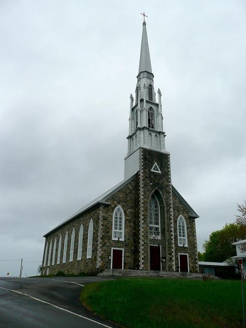 Church steeple building, religion.