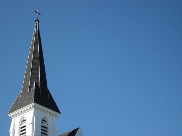 Church steeple new england, religion.