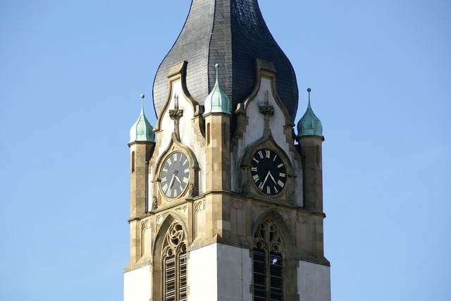 Church tower architecture, religion.