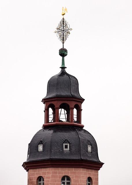 Church tower weather vane, religion.