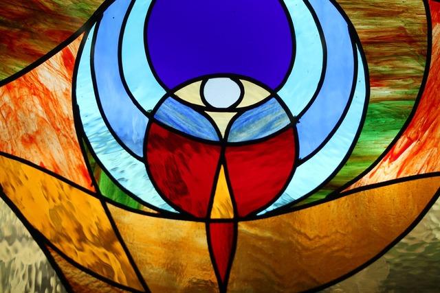 Church window glass tiffany, religion.