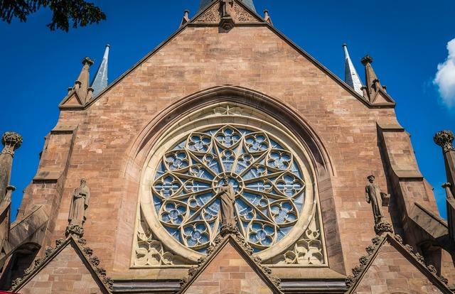 Church window gothic, religion.
