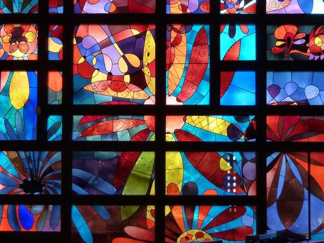 Church window stained glass church algund, religion.