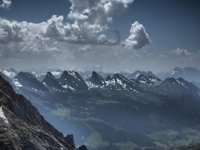 Churfirsten mountains alpine.