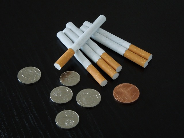 Cigarette czech crown lump cigarette.