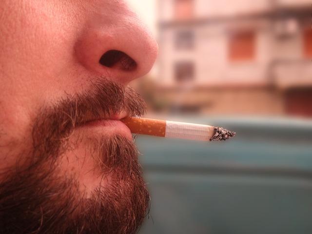 Cigarette smoked man, people.