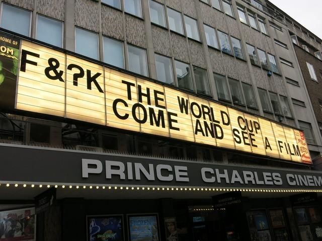 Cinema sign words.