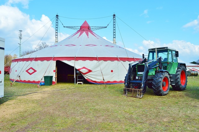 Circus building tent, architecture buildings.