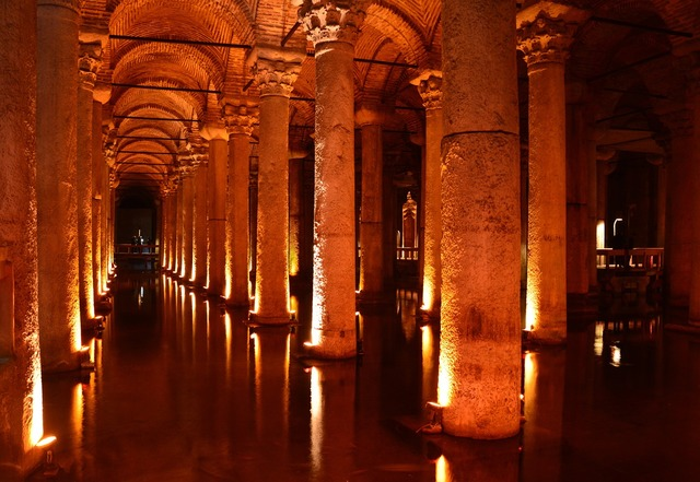 Cistern istanbul basilica cistern, architecture buildings.