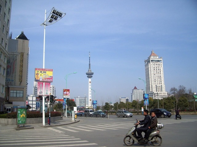 City street china, architecture buildings.
