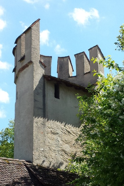 City wall tower basel, architecture buildings.