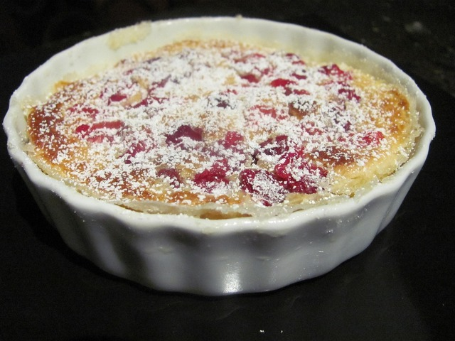 Clafoutis french pastry.