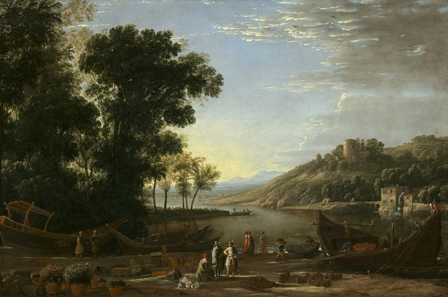Claude lorrain landscape oil painting, nature landscapes.
