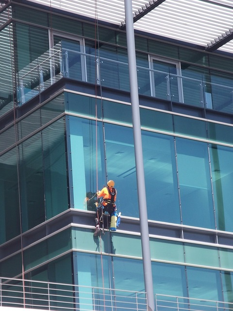 Cleaning window building, architecture buildings.