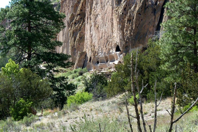 Cliff dwelling bandelier national monument new mexico.