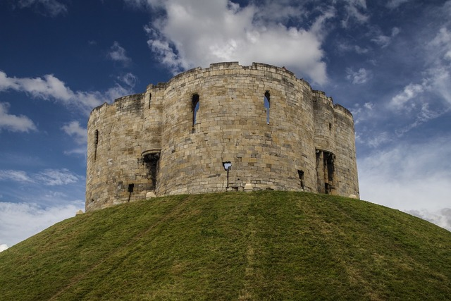 Clifford's tower york castle defensive tower.