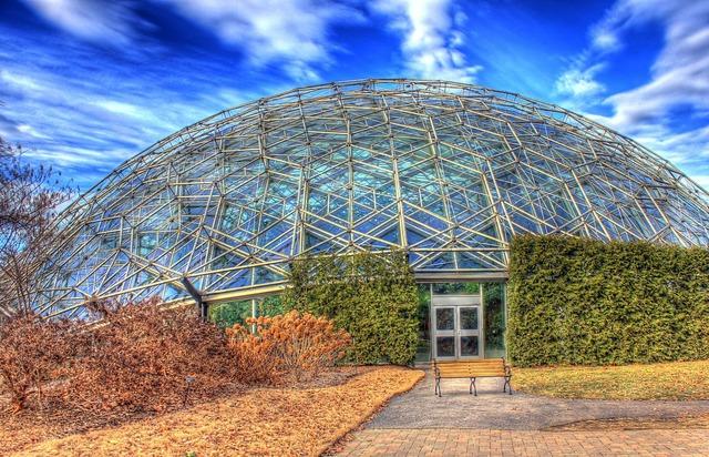 Climatron botanical garden missouri, architecture buildings.