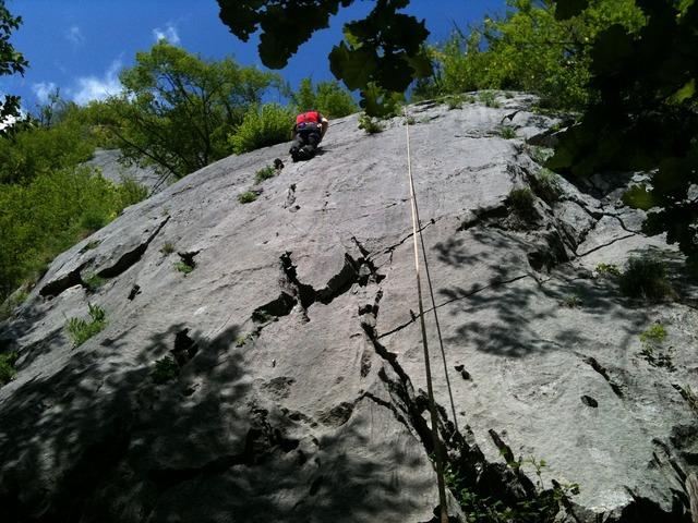 Climbing rock lombardy.