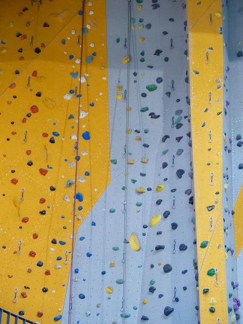 Climbing routes climbing hall steep.